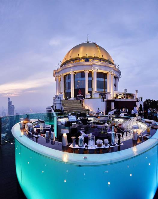 Die berühmte Rooftop Bar Sirocco in Bangkok im Lebua State Tower
