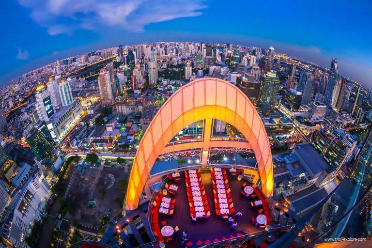 CRU Champagne Rooftop Bar Bangkok