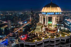 The famous Sirocco rooftop bar Bangkok at Lebua State
